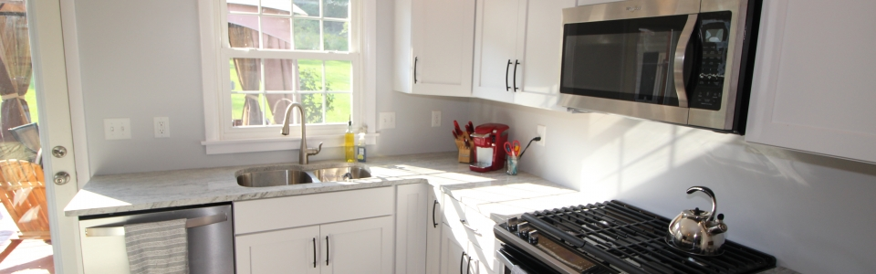 Remodeled kitchen counterspace