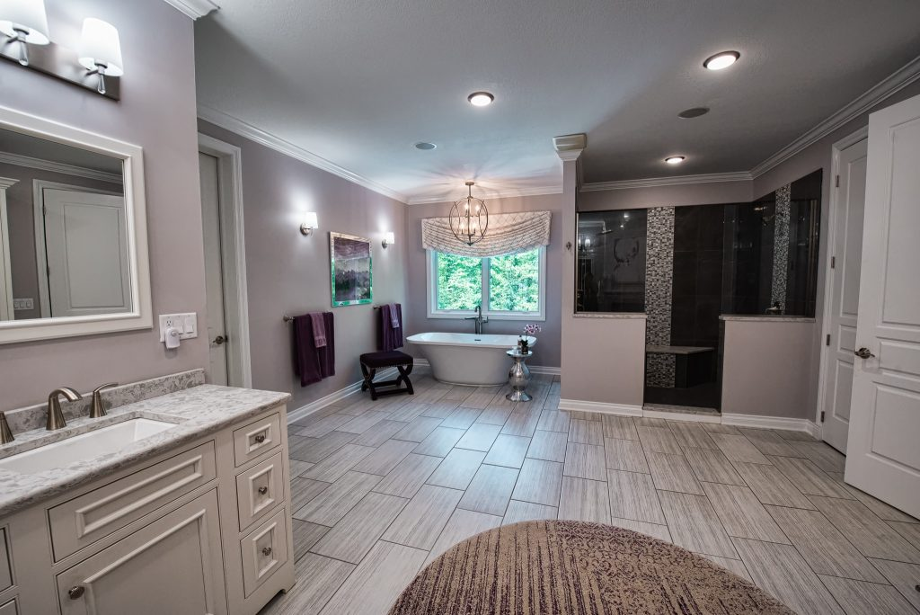Master bathroom remodel with tub